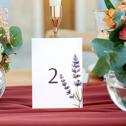 Marque Table Mariage Bouquet de Lavande, Lot de 3 pcs gratuit