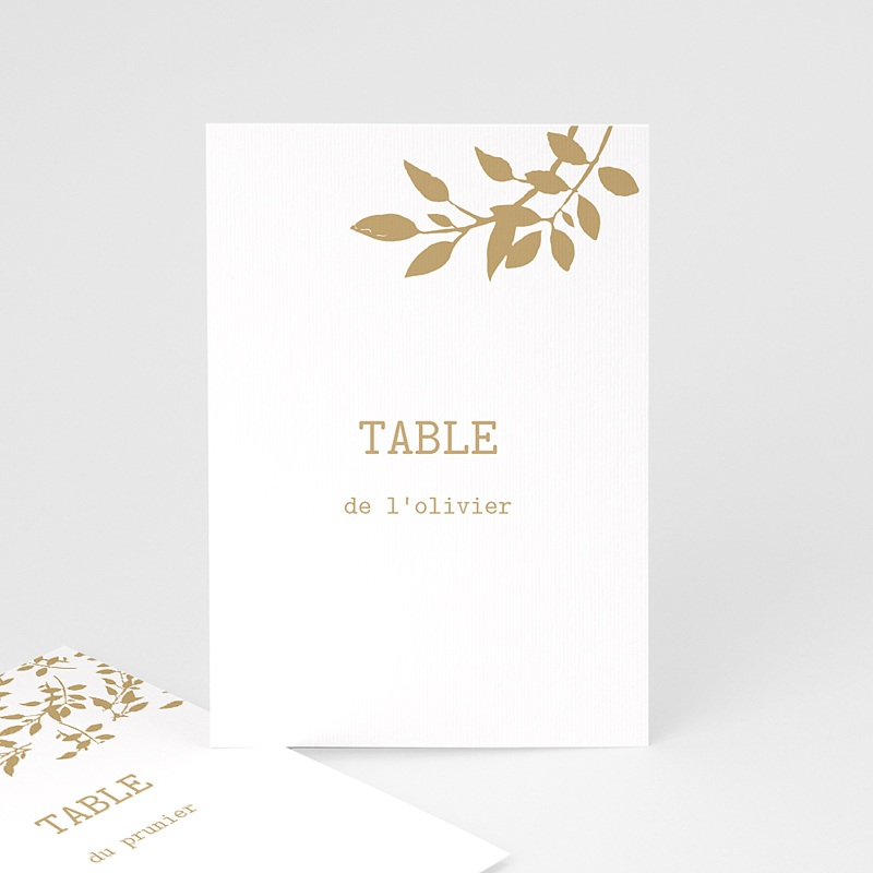 Marque Table Mariage Liberty Nature White Kraft, Lot de 3