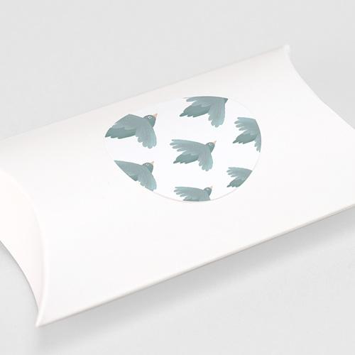 Etiquette Autocollante Baptême Oiseaux bleus, Sticker Enveloppe (lot de 15) gratuit