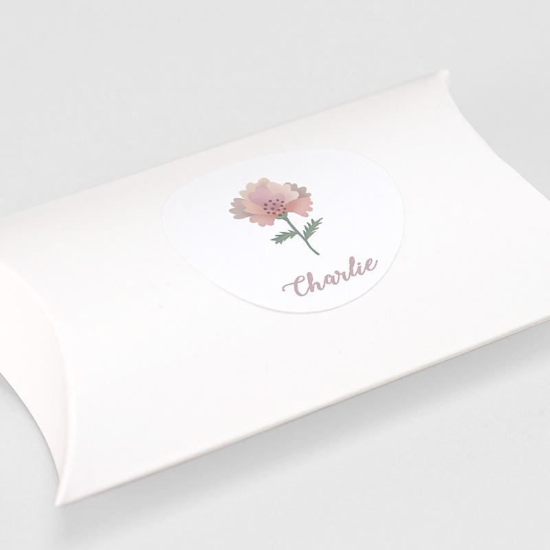 Etiquette Autocollante Naissance Pastel Poétique, Sticker Enveloppes gratuit