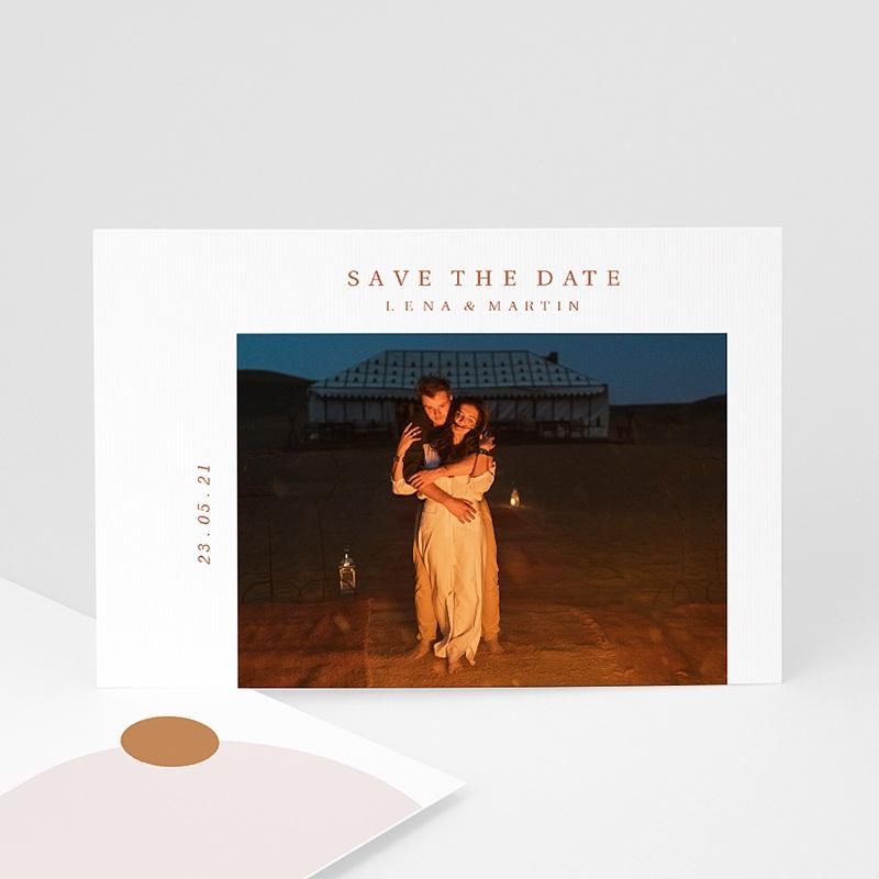 Save The Date Mariage Soleil de la Medina, Couleurs épices, Photo