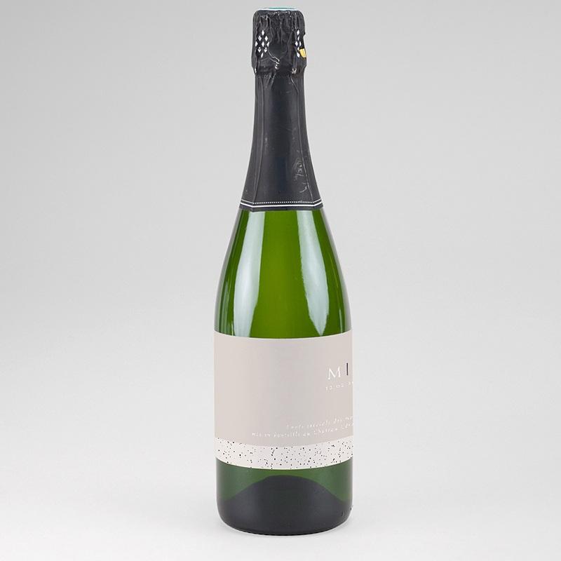Etiquette Bouteille Champagne Céramique, étiquette de bouteille