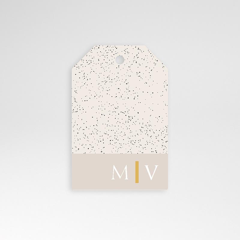 Etiquette Cadeau Mariage céramique, 6 x 4 cm, perforée