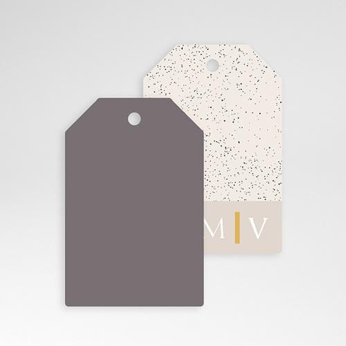 Etiquette Cadeau Mariage céramique, 6 x 4 cm, perforée pas cher