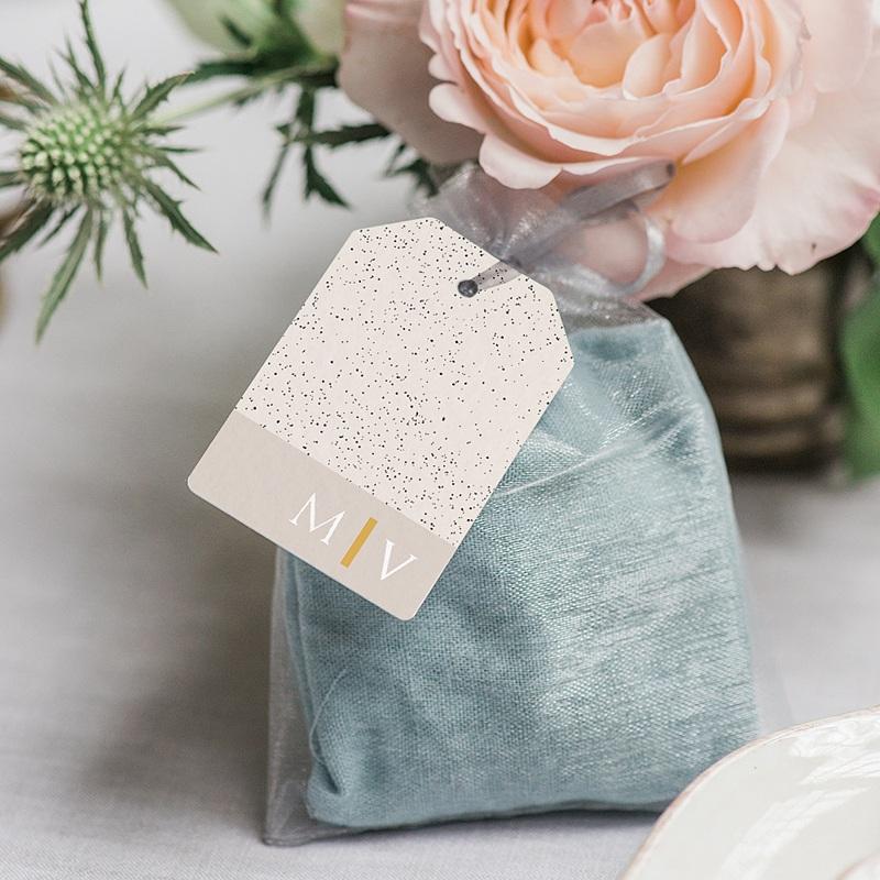 Etiquette Cadeau Mariage céramique, 6 x 4 cm, perforée gratuit