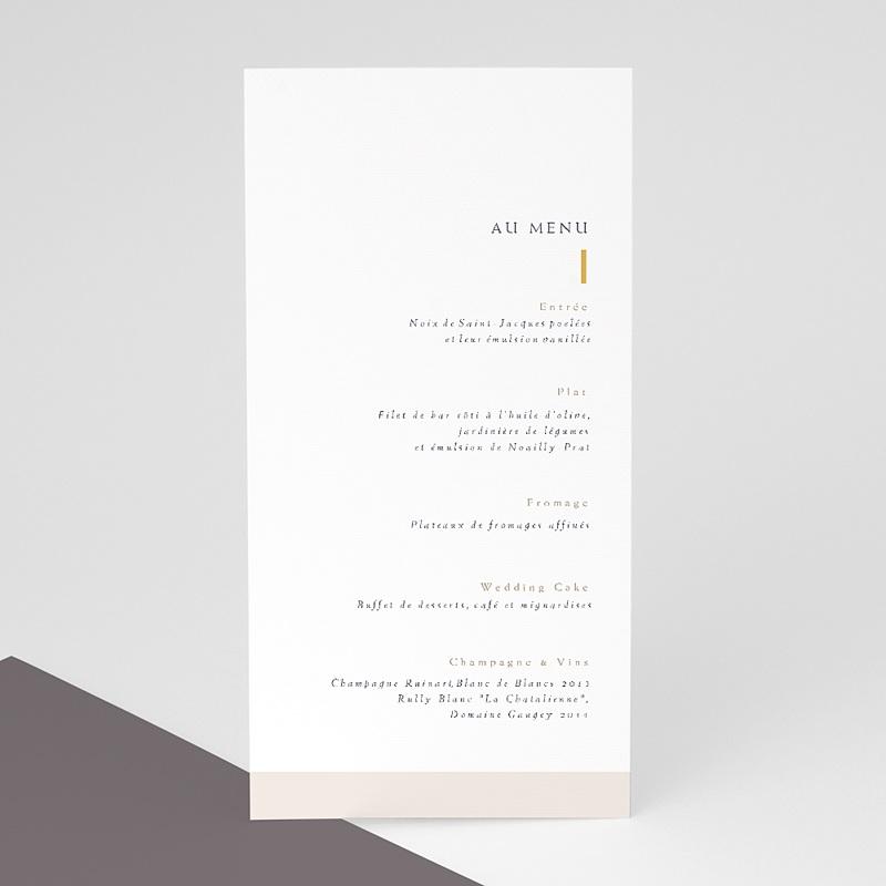 Menu Mariage céramique, menu