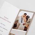 Carte Remerciement Mariage Champêtre Diadème Floral, Format marque-page, 2 Photos pas cher