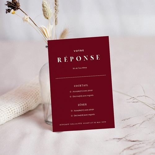 Carton Réponse Mariage Wedding Boarding Pass, RSVP, Dîner