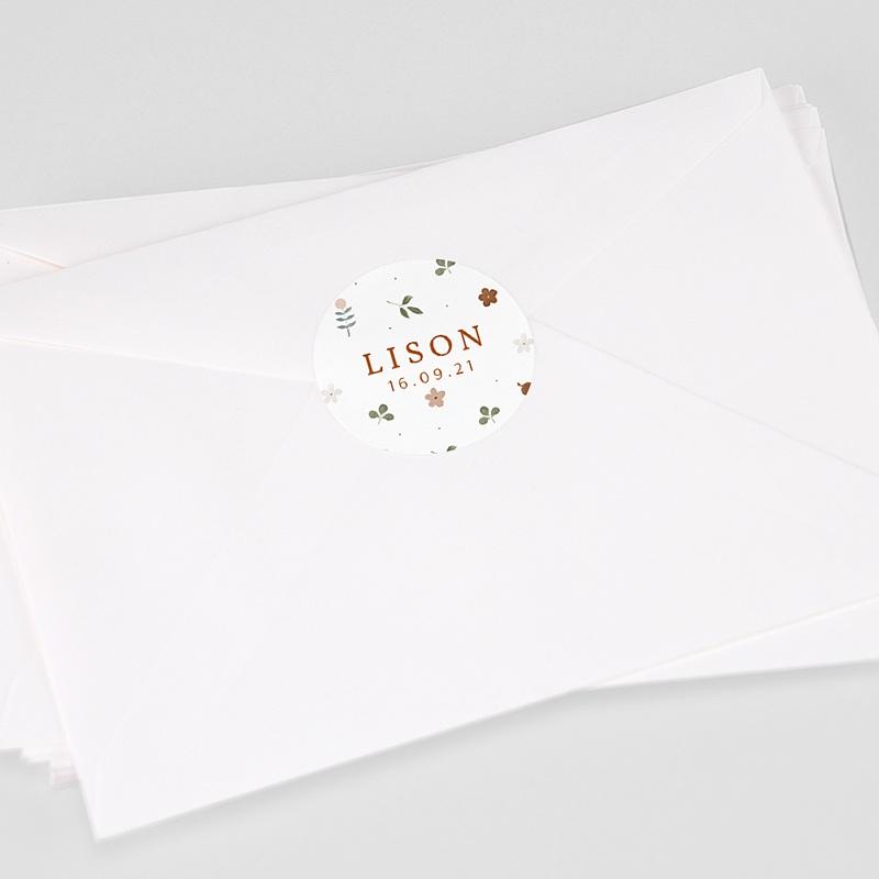 Etiquette Autocollante Naissance Tendance sylvestre, Sticker enveloppes