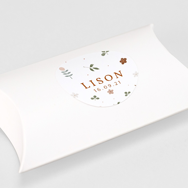 Etiquette Autocollante Naissance Tendance sylvestre, Sticker enveloppes gratuit