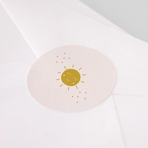 Etiquette Noël Soleil Rosé, Sticker pas cher