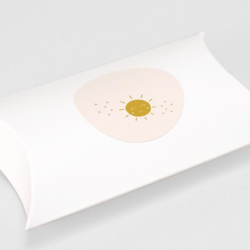 Etiquette Noël Soleil Rosé, Sticker gratuit