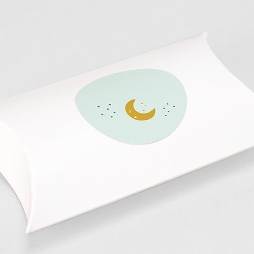 Etiquette Autocollante Naissance Au clair de lune, Sticker d'enveloppes gratuit