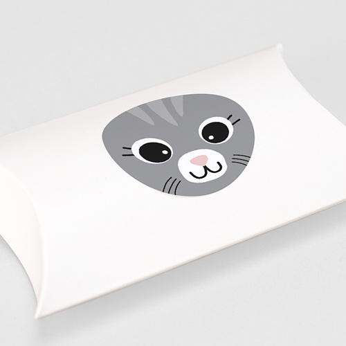 Etiquette Autocollante Naissance Chat gris et Compagnie, Sticker gratuit