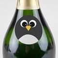 Etiquette Autocollante Naissance Pingouin et Compagnie, Sticker rond