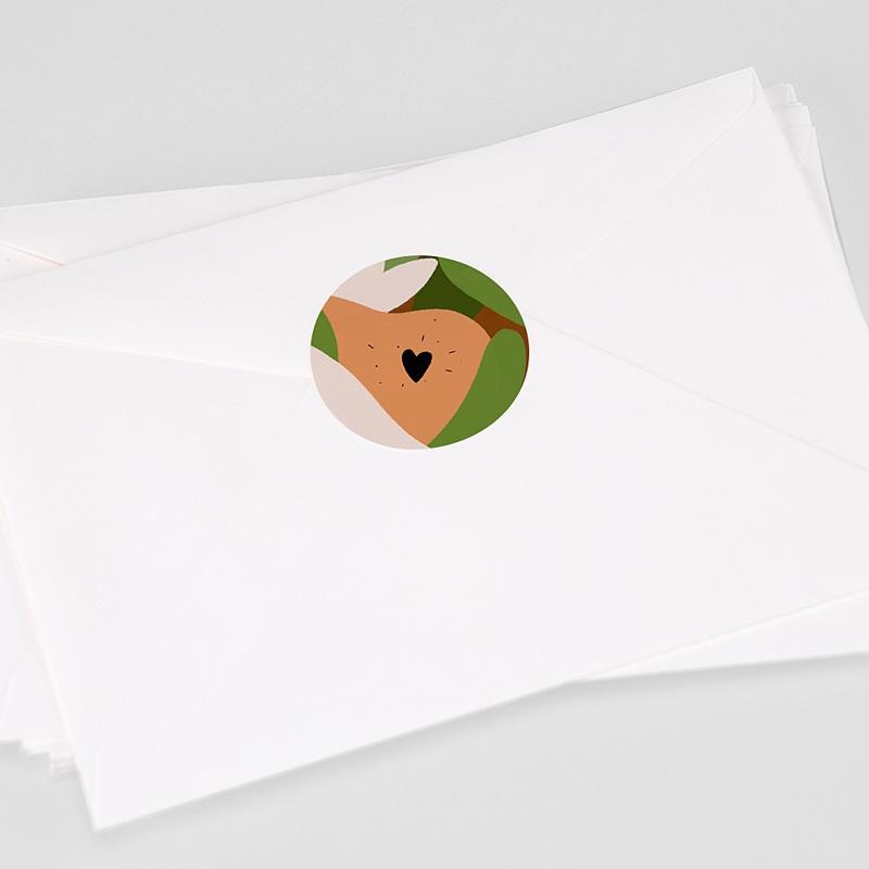 Etiquette Autocollante Naissance Composition d'Automne, Sticker d'enveloppes