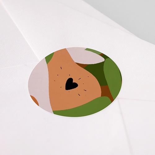Etiquette Autocollante Naissance Composition d'Automne, Sticker d'enveloppes pas cher