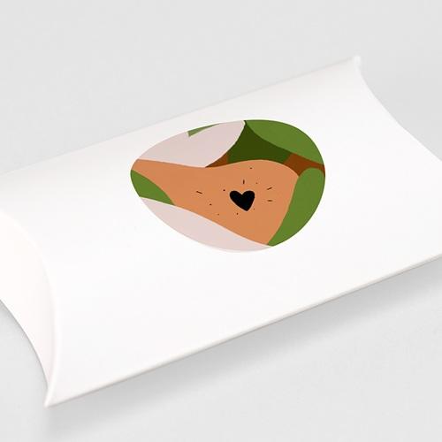 Etiquette Autocollante Naissance Composition d'Automne, Sticker d'enveloppes gratuit