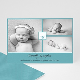 Faire-Part Naissance Fille - Camille 9232