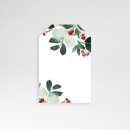 Etiquette Noël Couronne de Noël, préperforée, 6 x 4 cm