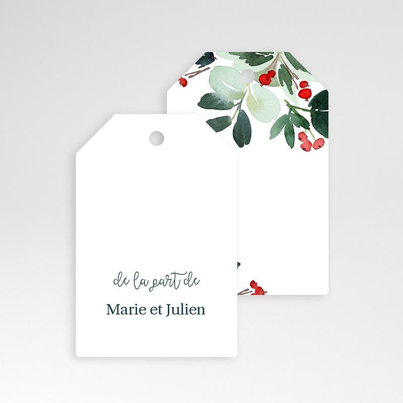 Etiquette Noël Couronne de Noël, préperforée, 6 x 4 cm pas cher