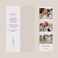Carte Remerciement Mariage Champêtre Bouquet de Lavande, 2 en 1 pas cher