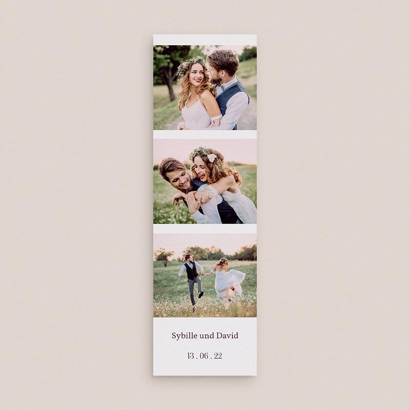Carte Remerciement Mariage Champêtre Bouquet de Lavande, 2 en 1 gratuit
