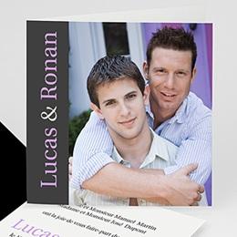 Lui + Lui - Nous deux - invitation photo, remerciements - 3