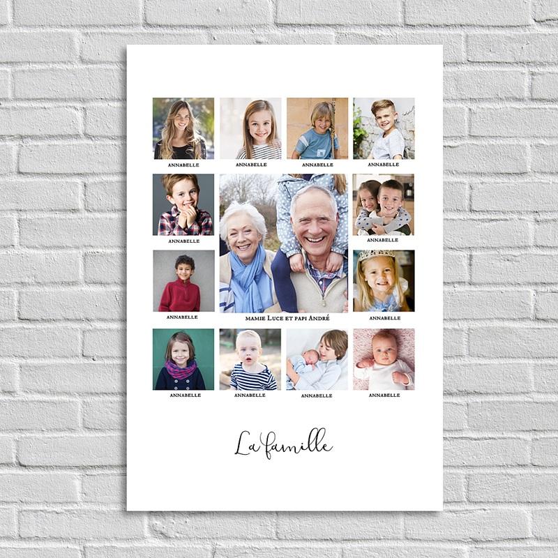 Poster Photo Famille unie (portrait)