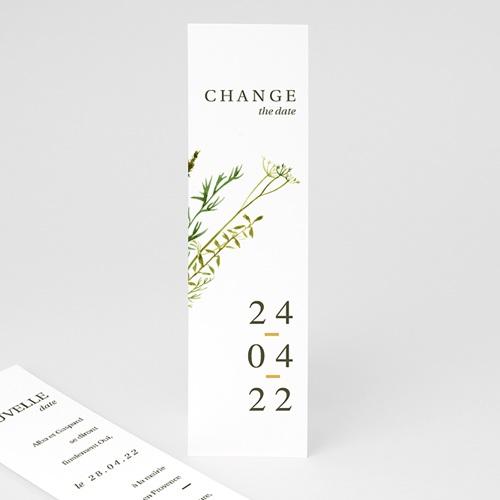 Change The Date Mariage Fleur de Carotte, Thème Champêtre, Trait doré