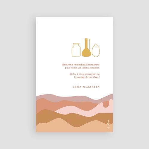 Carte Remerciement Mariage Voyage Vue du Riad, Dunes Ocres, Dorure & Photo pas cher