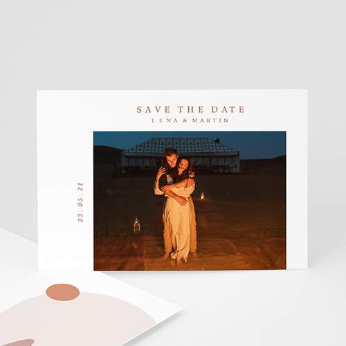 Save The Date Mariage Vue du Riad, Dunes Ocres & Photo