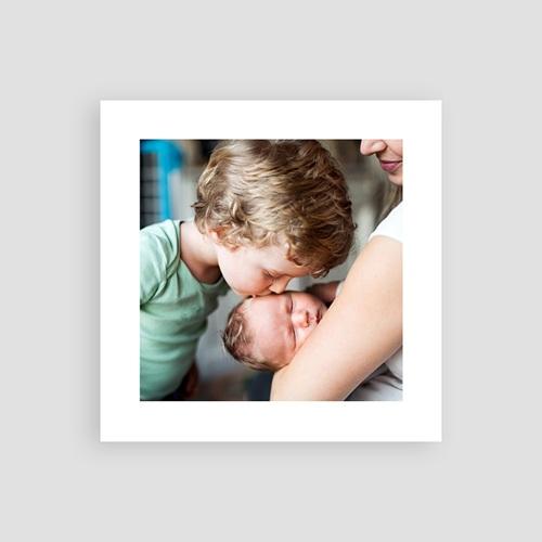 Carte Remerciement Naissance Frère et Soeur Chaussons bébé Fille & Photo pas cher