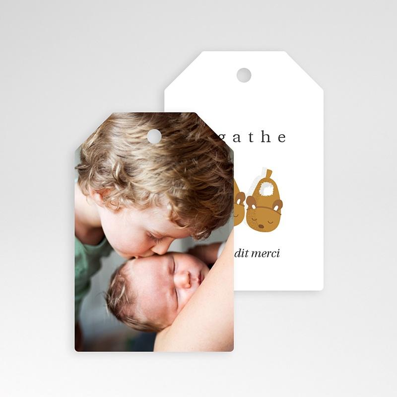 Etiquette Cadeau Naissance Chaussons bébé Fille & Photo, Cadeau pas cher
