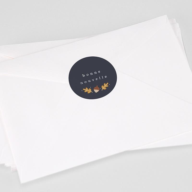 Etiquette Autocollante Naissance Les 2 font la paire, Sticker enveloppe