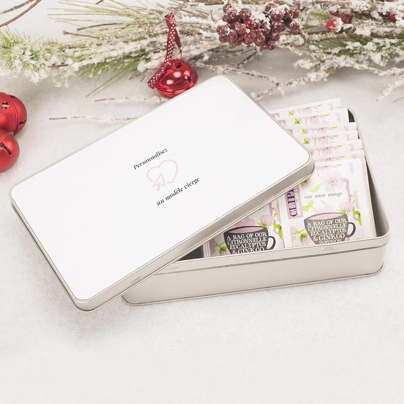 Boîte Personnalisée Photo Modèle vierge, couvercle personnalisable, 19.4 x 12.4 cm pas cher