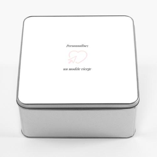 Boîte Personnalisée Photo Modèle vierge, couvercle personnalisable, 20.2 x 20.2 cm