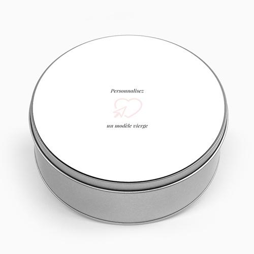 Boîte Personnalisée Photo Modèle vierge, couvercle personnalisable, ∅ 15 cm