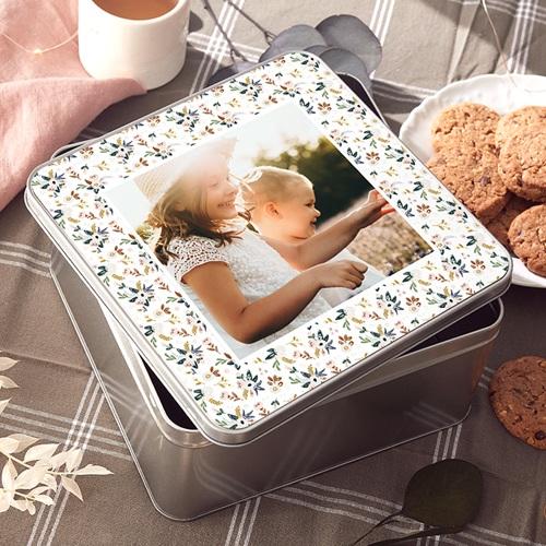 Boîte Personnalisée Photo Naissance souvenirs, 20.2 x 20.2 cm