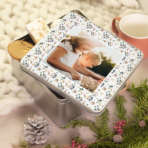 Boîte Personnalisée Photo Naissance souvenirs, 20.2 x 20.2 cm pas cher