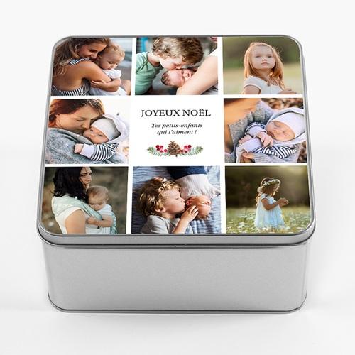 Boîte Personnalisée Photo cadeau personnalisé grand parent, 20.2 x 20.2 cm