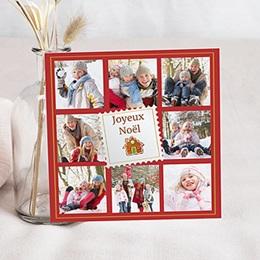 Carte de voeux Joyeux Noël Revue de L'année - Rouge