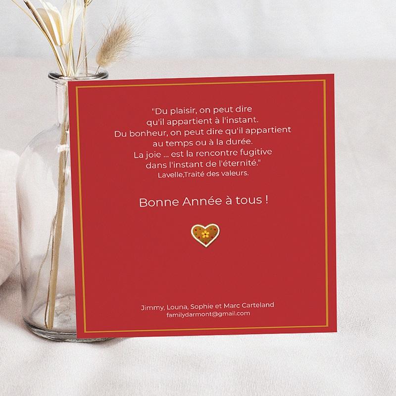 Carte de Voeux 2019 - Revue de L'année - Rouge 9279 thumb