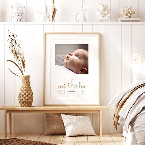 Affiches Bébé Oie, Photoportrait déco, 30 x 40 cm pas cher