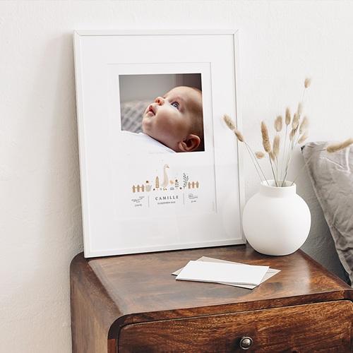 Affiches Bébé Oie, Photoportrait déco, 30 x 40 cm gratuit