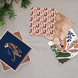 Papeterie - Style Papier Peint, Vintage Jungle, lot de 12 - 0