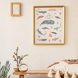 Papeterie - Le monde sous-marin, Déco Chambre, 30 X 40 cm - 0
