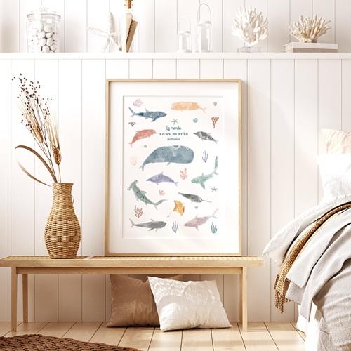 Affiches Le monde sous-marin, Déco Chambre, 30 X 40 cm pas cher