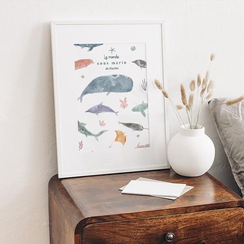 Affiches Le monde sous-marin, Déco Chambre, 30 X 40 cm gratuit