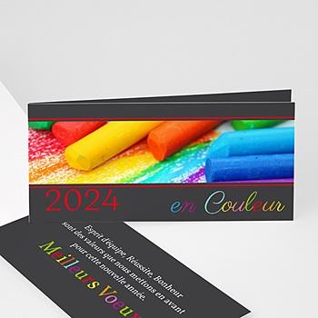 Carte de voeux entreprise En couleur personnalisé